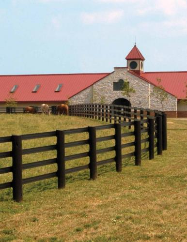 beautiful rail horse fencing